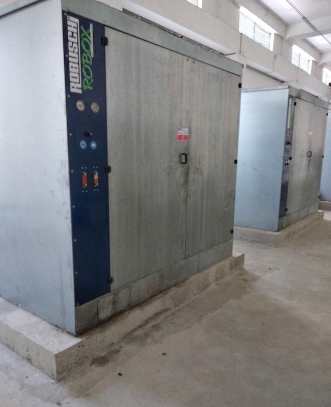Въздуходувки към биобасейн в ПСОВ Хасково