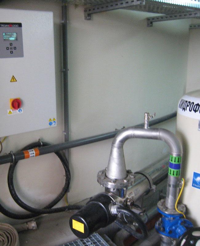 UV система за обеззаразяване на процесни води в затворен реактор на общинска ПСОВ
