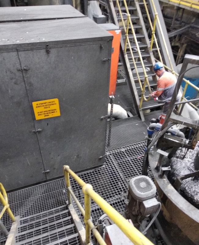 Въздуходувки към флотатор в минната индустрия