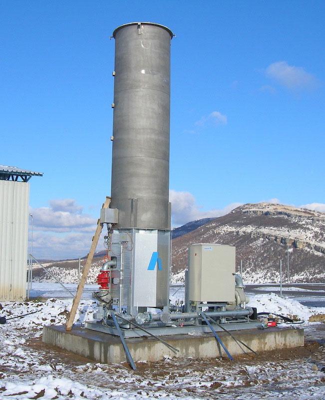 Факел за биогаз в регионалното депо за отпадъци - гр. Севлиево