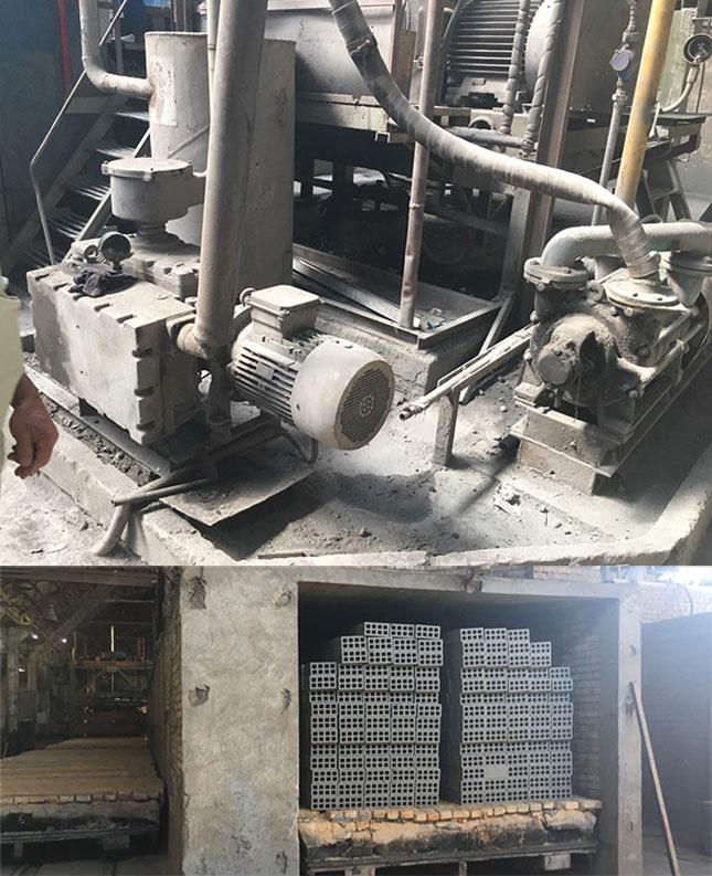 Вакуум помпи към екструдери за керамични плочки