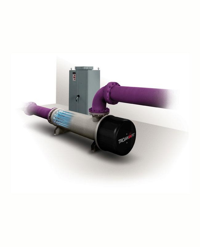 UV система за отпадъчни води - затворен реактор - TrojanUVFit серия