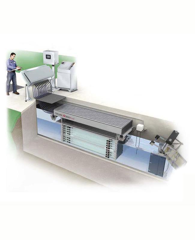UV система за отпадъчни води - открит канал - TrojanUV3000Plus серия